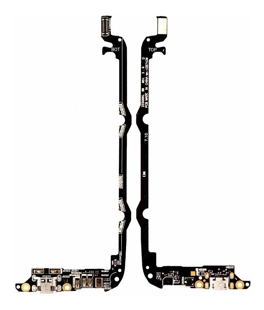 Placa Sub / Conector De Carga Completo Asus Zenfone 2 Laser Ze500kl 5.0 Polegadas
