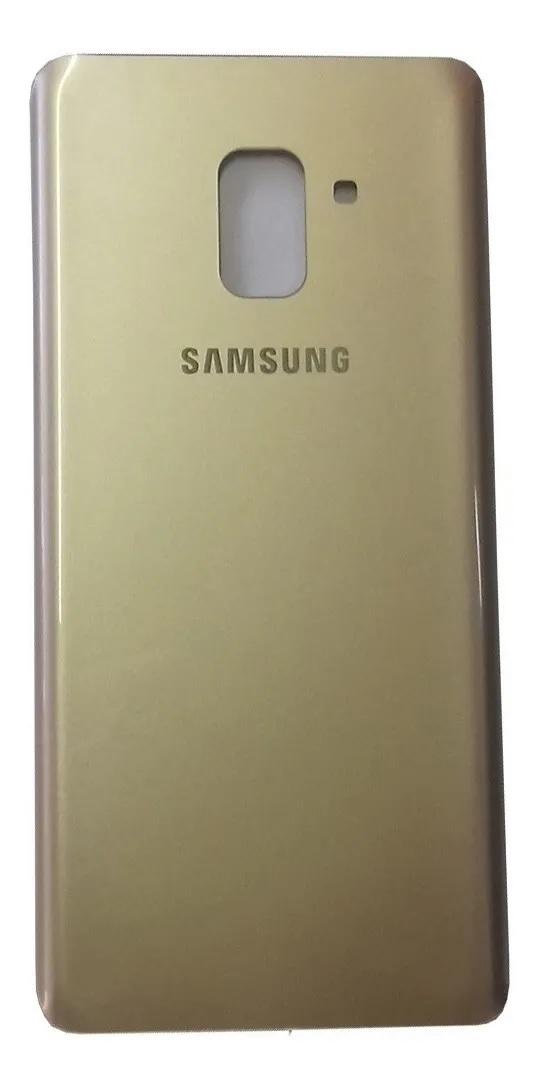 Tampa Vidro Traseira Samsung Galaxy A8 Plus 2018 A730 Dourado