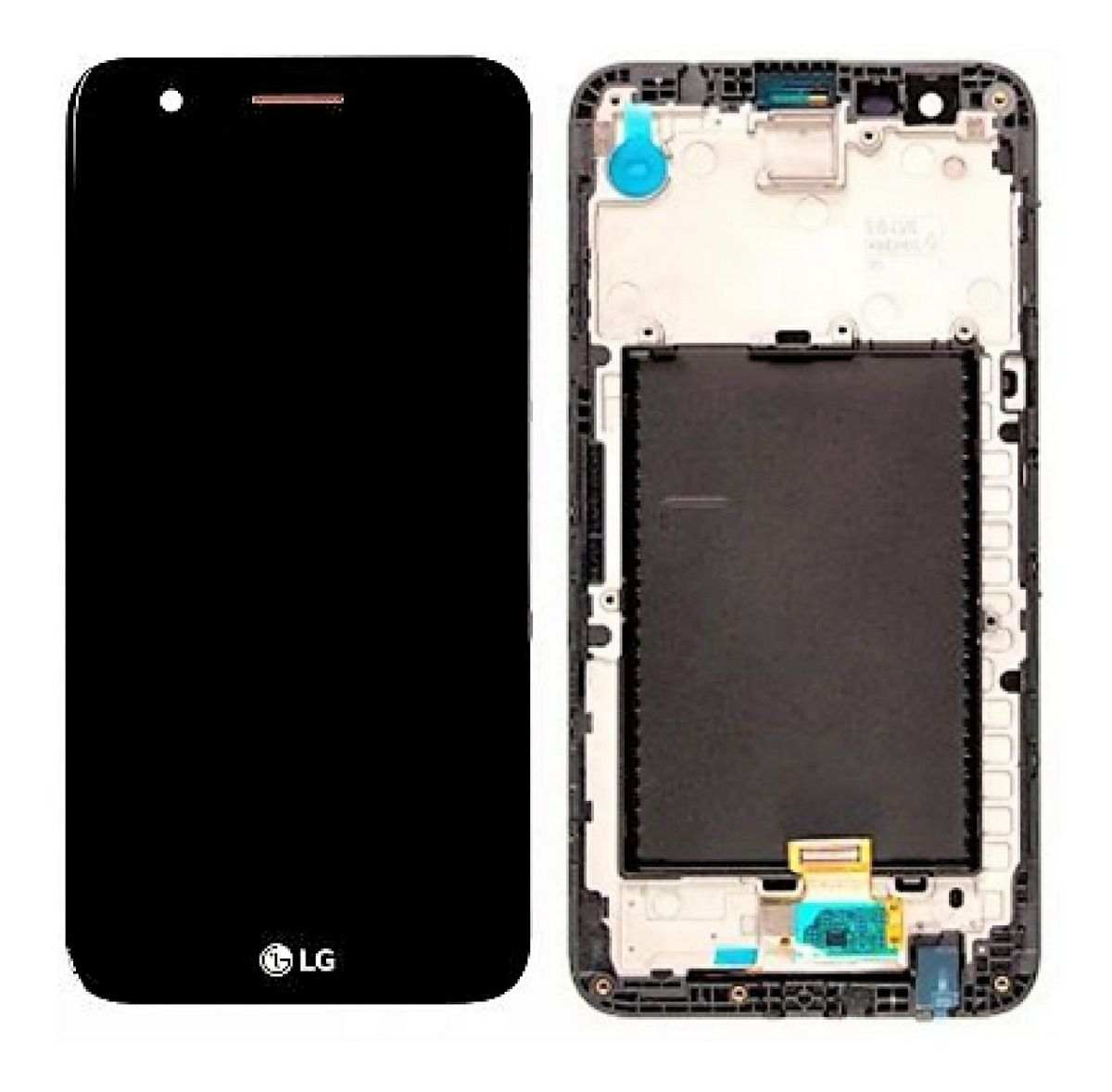 Tela Display Frontal Touch Lg K10 2017 M250 M250ds Preto