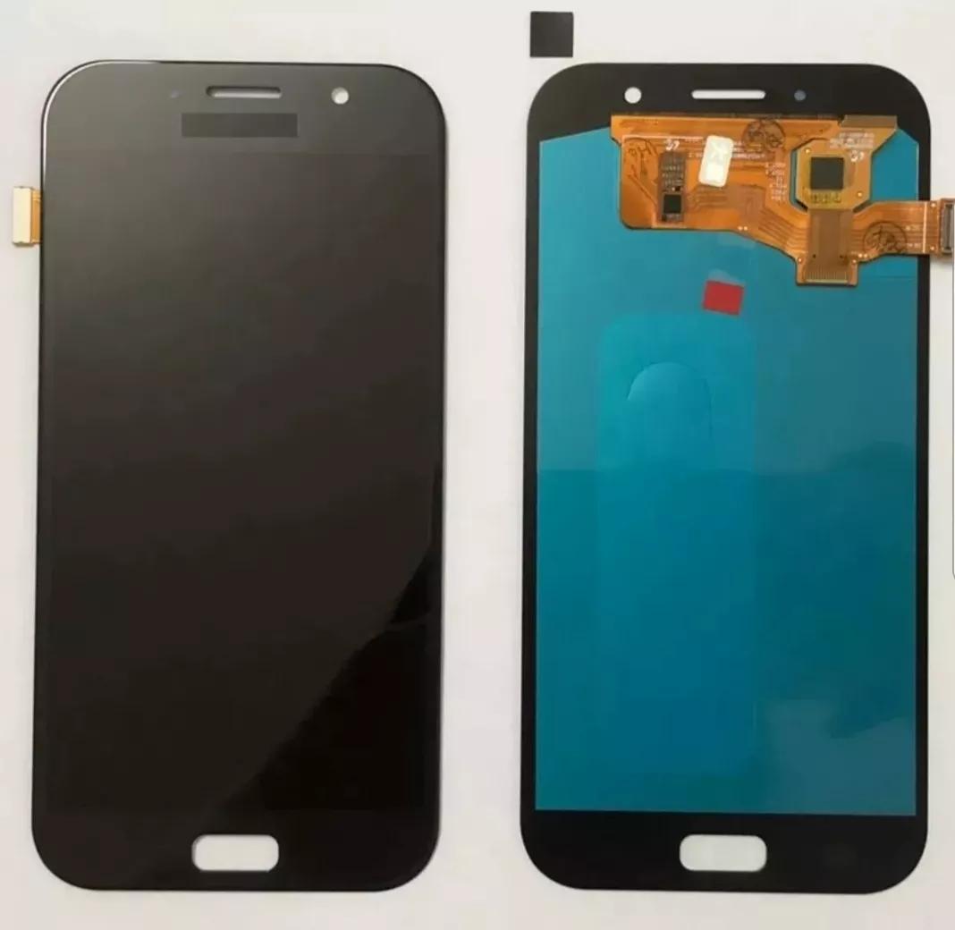 Tela Frontal Display Samsung Galaxy A7 2017 A720 Preto Oled Sem aro
