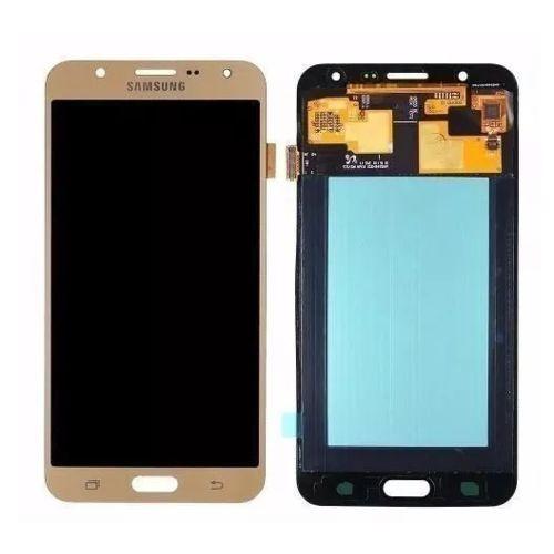 Tela Frontal Touch e Display LCD J7 J700 Dourado Incell