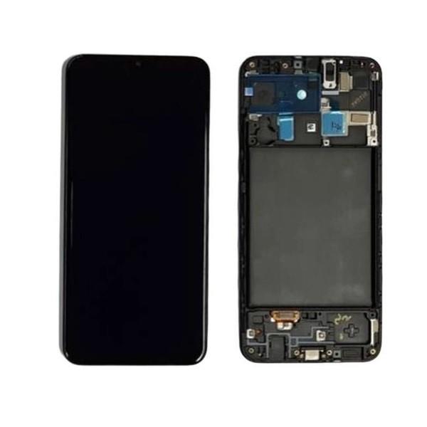 Tela Frontal Touch e Display Lcd Samsung A20 A205 Preta Com Aro Qualidade Incell