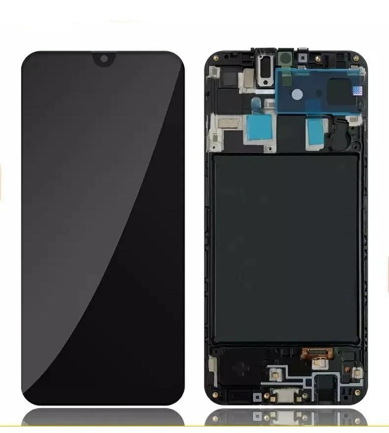 Tela Frontal Touch e Display Lcd Samsung A20 A205 Preta Com Aro Qualidade Oled