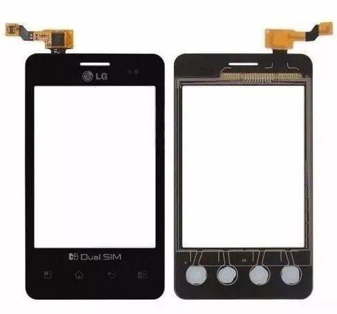 Tela Touch screen Frente  Lg E405 Optimus L3 Dual  PRETO