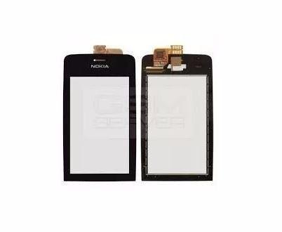 Tela Touch screen Frente  Nokia Asha N308 N310  PRETO