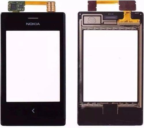 Tela Touch screen Frente   Nokia Asha N503 503 Preto