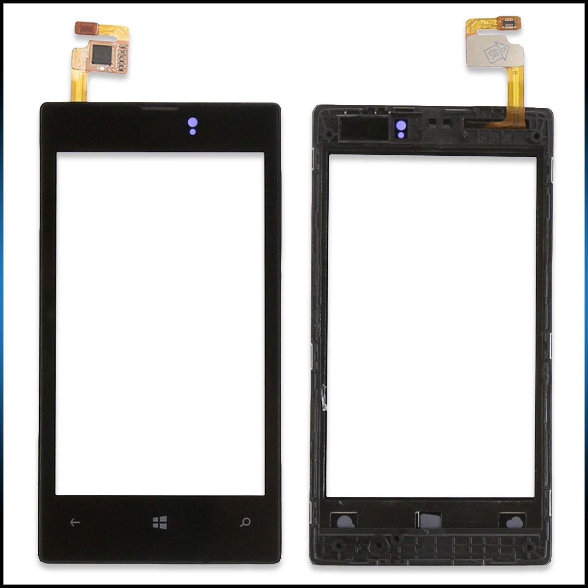 Tela Touch screen Frente  Nokia Lumia 520 N520 C/ Aro  PRETO