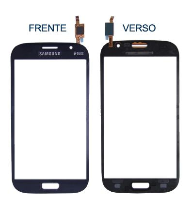 Tela Touch screen Frente   Samsung  I9082 Galaxy Grand Duos Gt-i9082  Azul