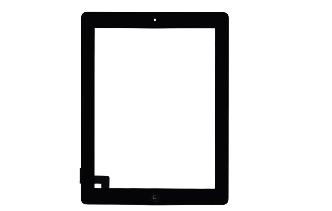 Tela Vidro Touch Screen  Apple Ipad 2 + Home + Adesivo A1395 A1396 PRETO