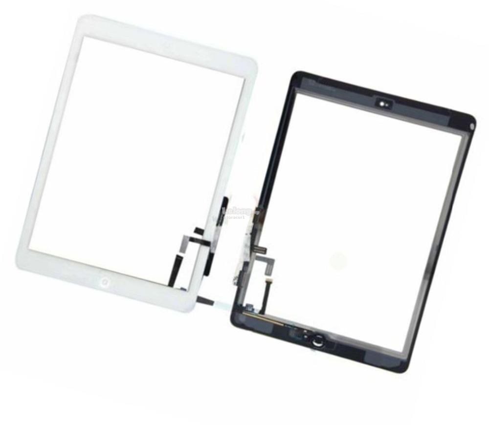 Tela Vidro Touch iPad Air 5 / iPad 5 / iPad air A1474 Branco com botão home