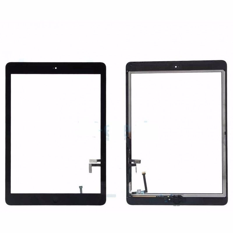 Tela Vidro Touch iPad Air 5 / iPad 5 / iPad air A1474 Preto com botão home