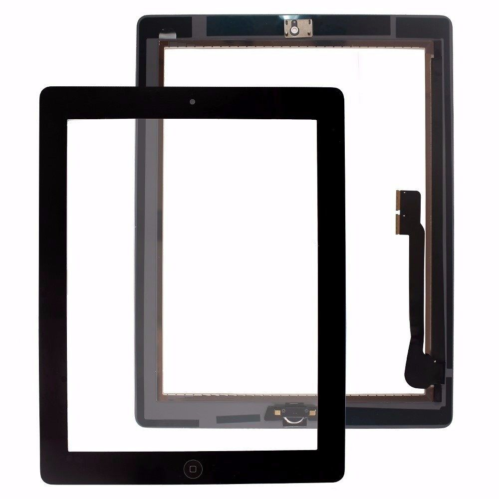 Tela Vidro Touch Screen   Ipad 3 + Home + Adesivo A1403 A1416 A1430 Preto
