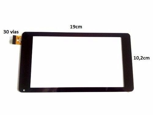 Tela Vidro Touch Screen TableT Cce Tf74w Tf742 Tf74 7 Polegadas PRETO