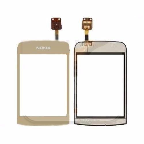 Toque Tela Touch Nokia C2-06 C2-02 C2-03 Dourado