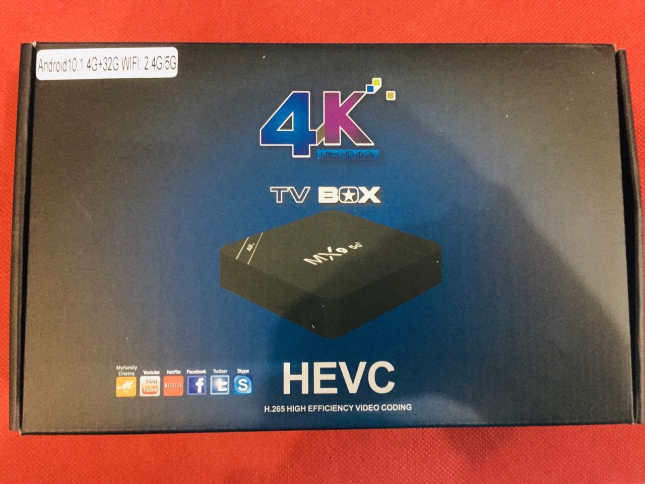 TV BOX 4k ultraHD MX9 HEVC - Android 10.1