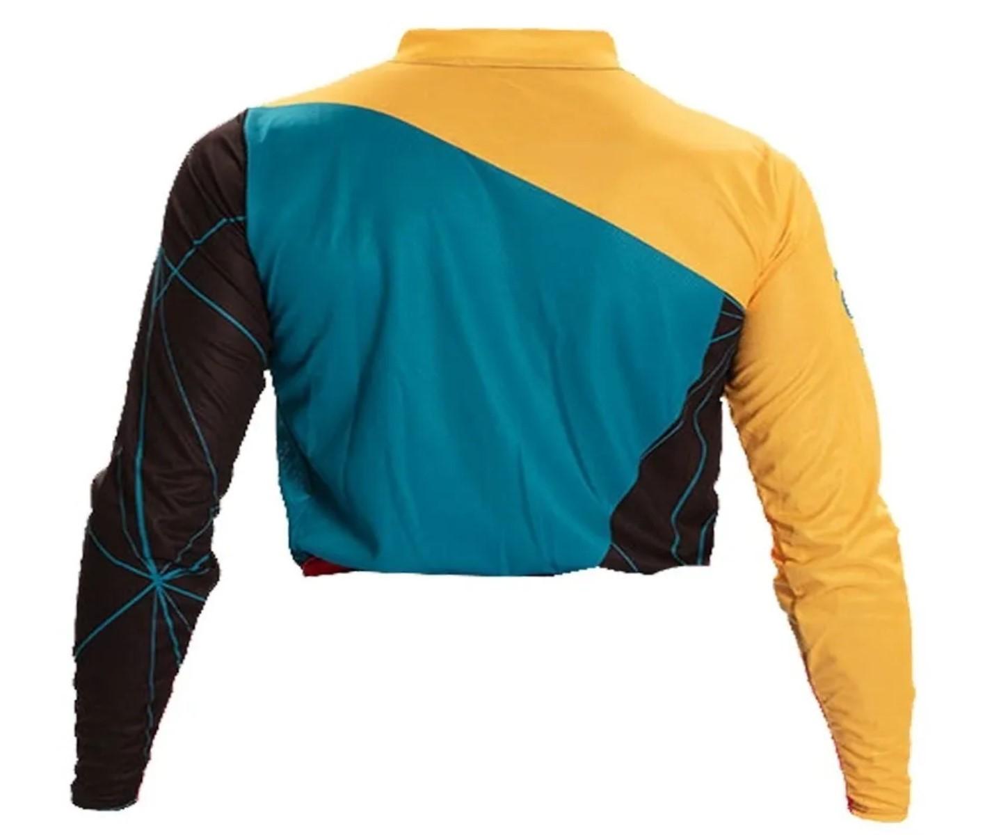Camisa ASW Image Dart Amarelo Vermelho Enduro