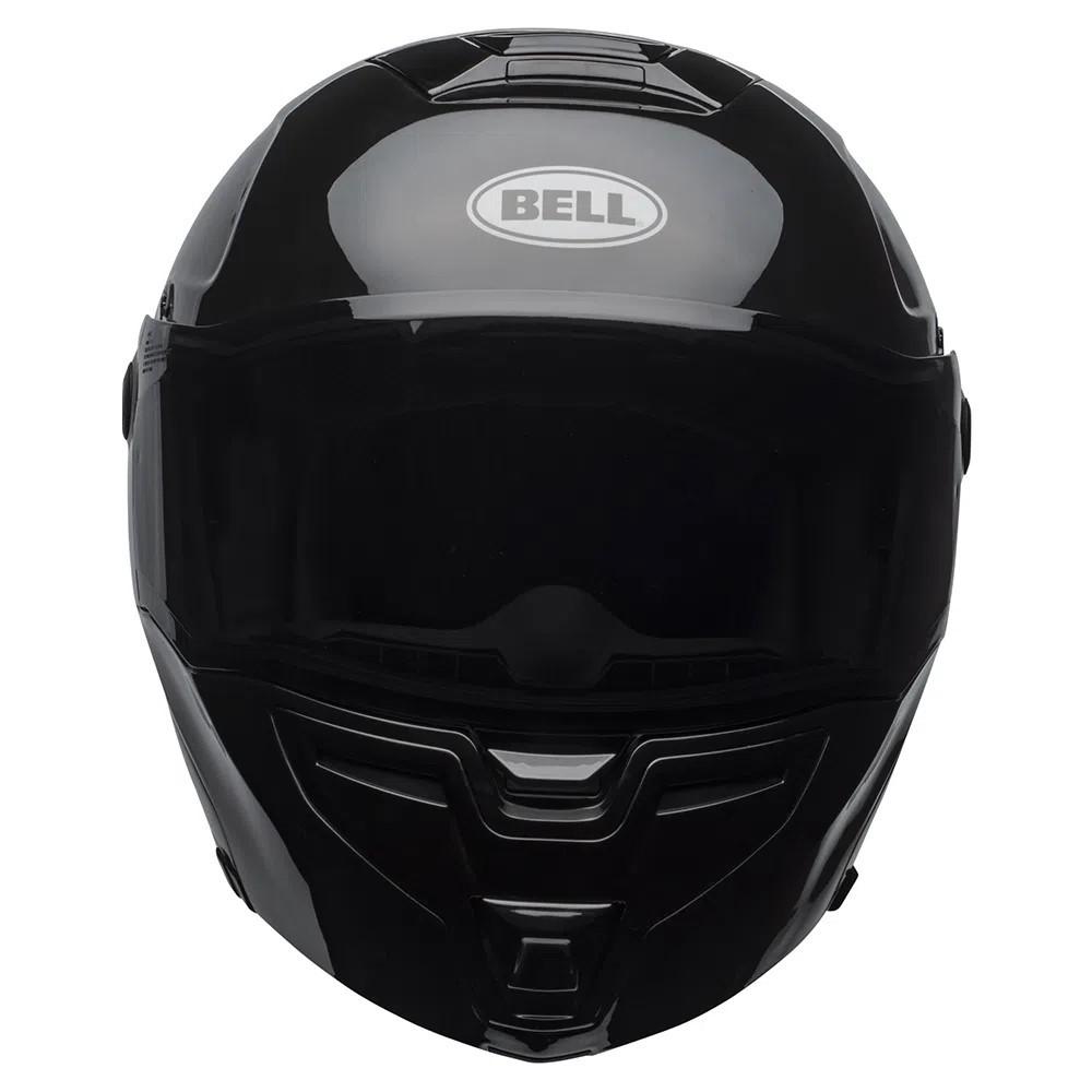 Capacete Bell Srt Modular Solid Preto Brilho