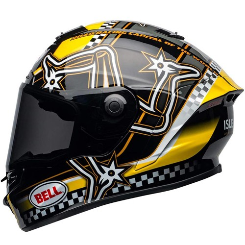 Capacete Bell Star DLX Mips Isle Of Man Pret Amare