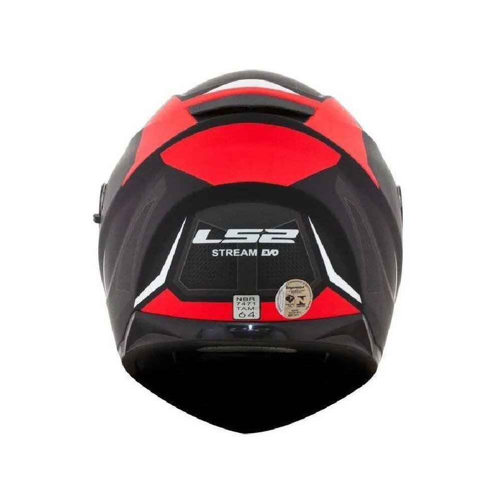 Capacete LS2 FF320 Stream Edge Preto Fosco Vermelho Cinza