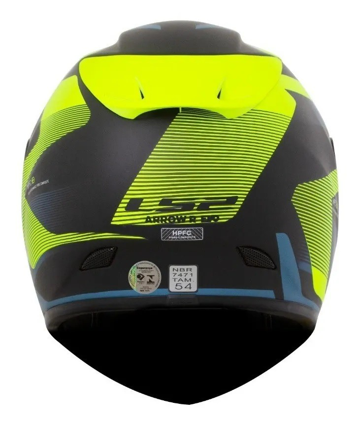 Capacete Ls2 Ff323 Arrow R Evo Compete Azul Amarelo Preto