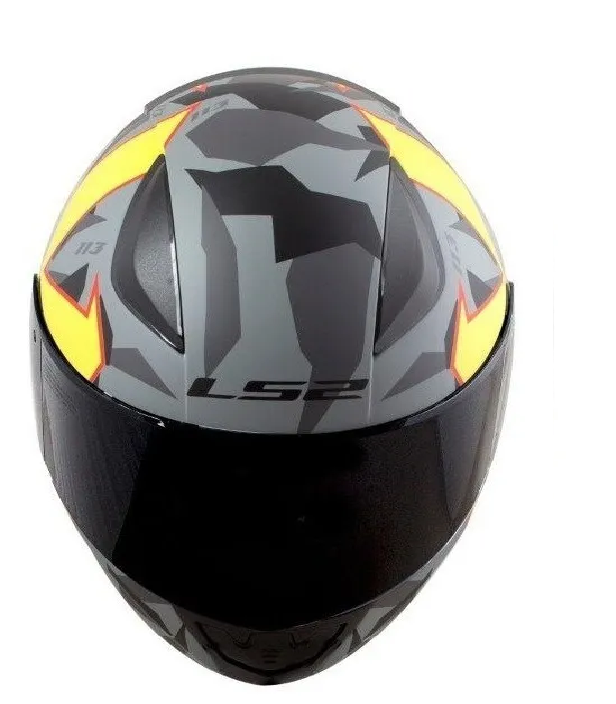 Capacete LS2 FF353 Rapid Paschoalin Cinza Fosco Amarelo Fluo