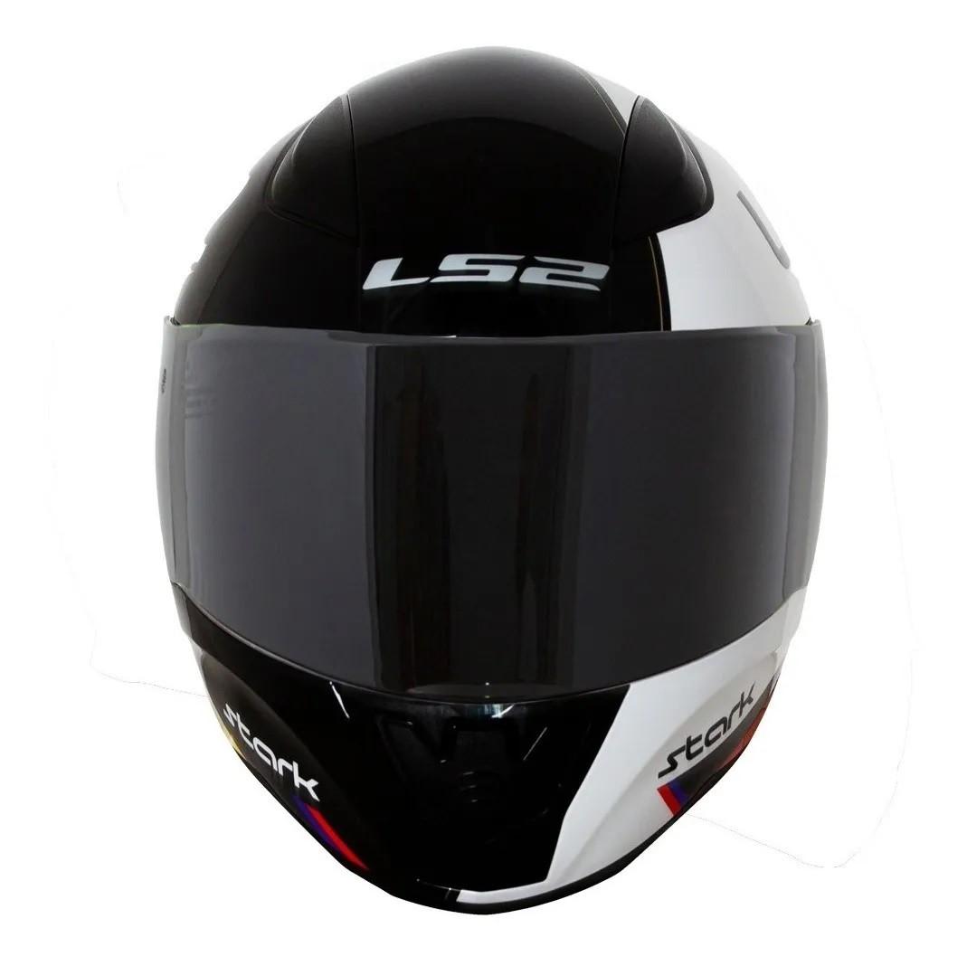 Capacete LS2 FF353 Rapid Stark Branco Vermelho