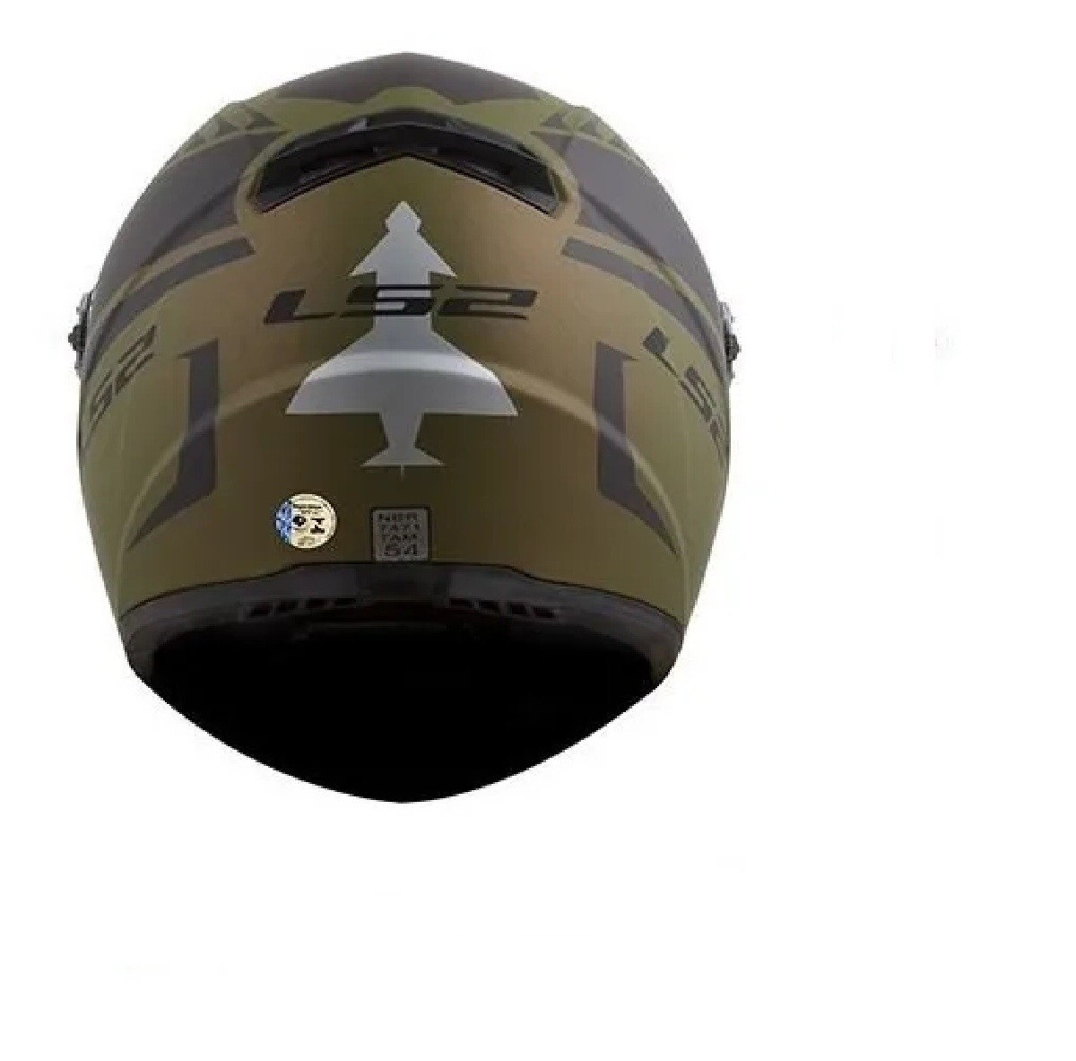 Capacete LS2 FF358 Air Fighter Verde  Militar