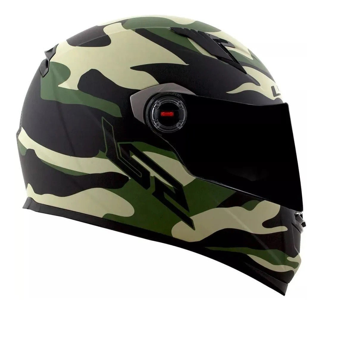 Capacete Ls2 FF358 Army Preto Fosco Verde Militar