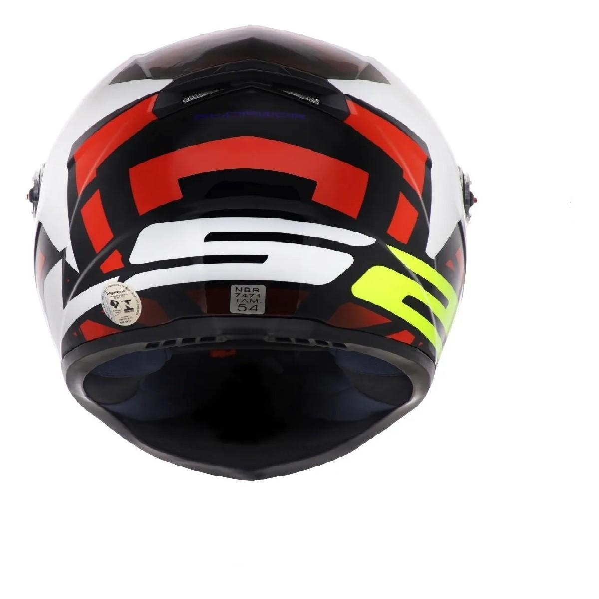 Capacete LS2 FF358 Starwar Branco Vermelho Brilho