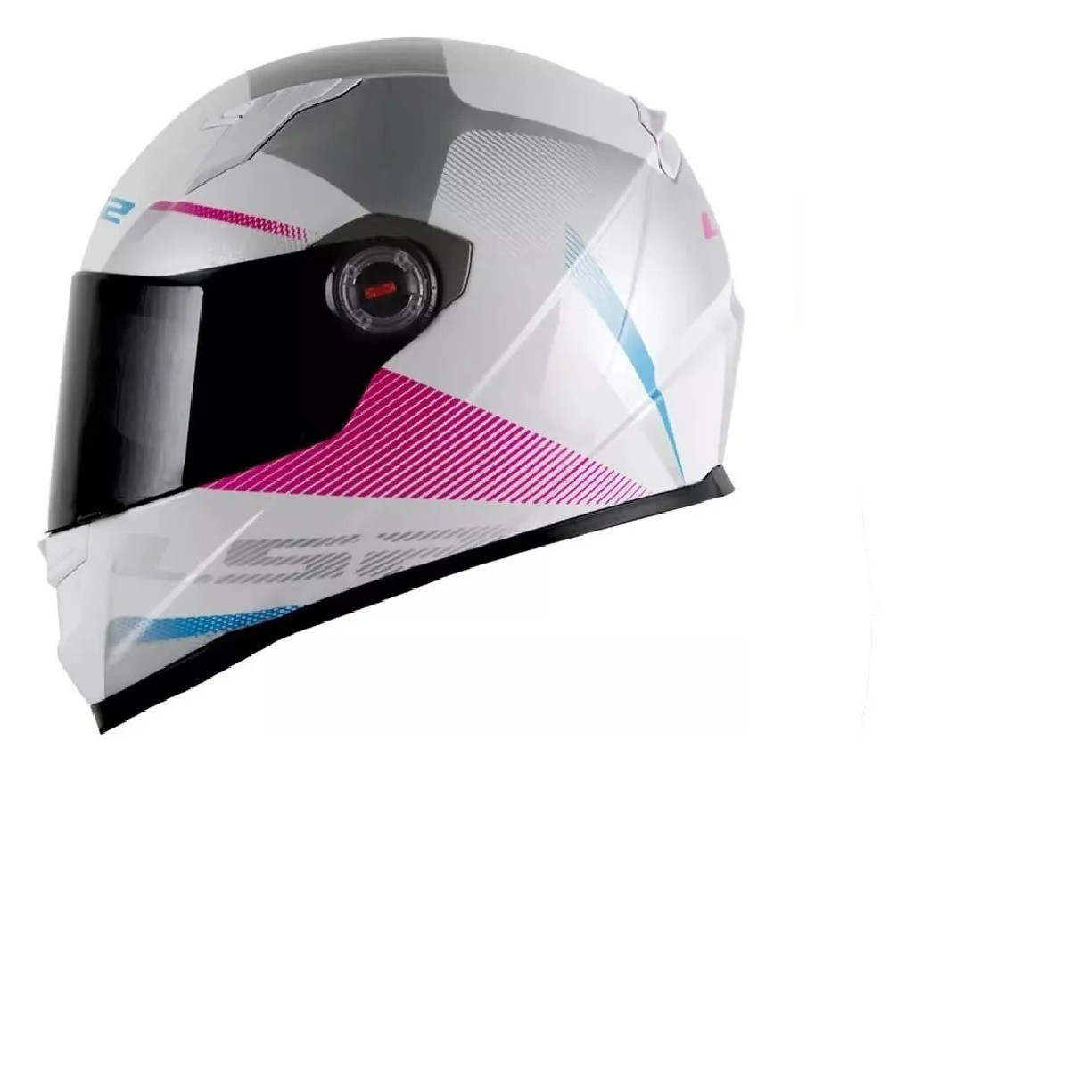 Capacete LS2 FF358 Tyrell Branco Rosa
