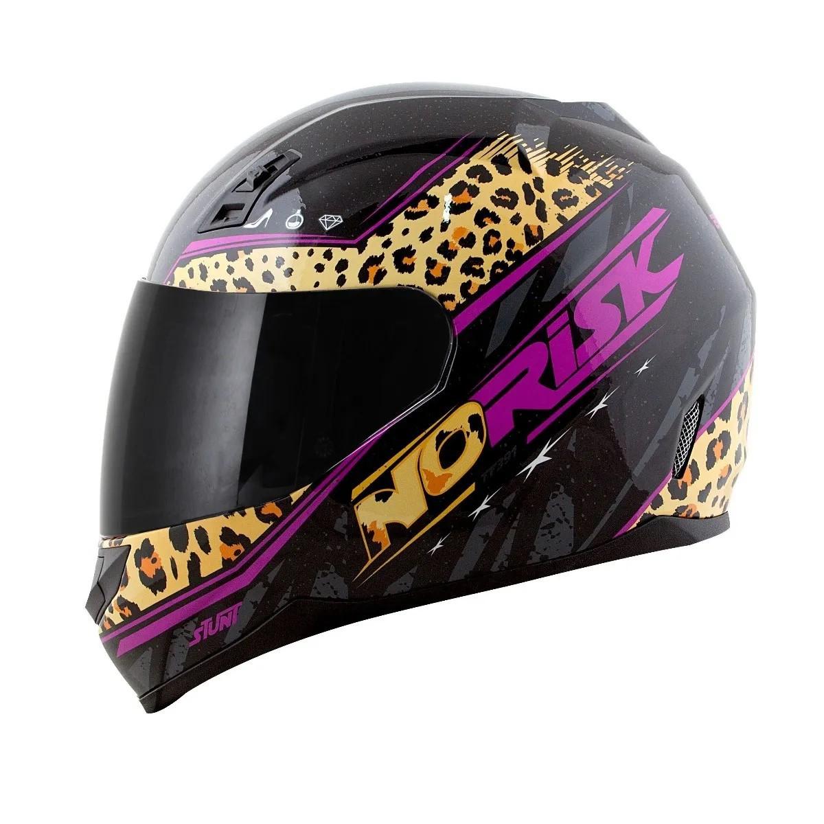 Capacete Norisk FF391 Beauty Jaguar Preto