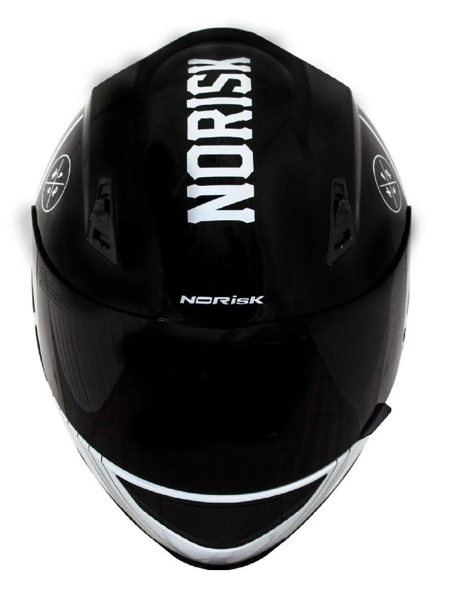 Capacete Norisk FF391 Knight Branco Preto