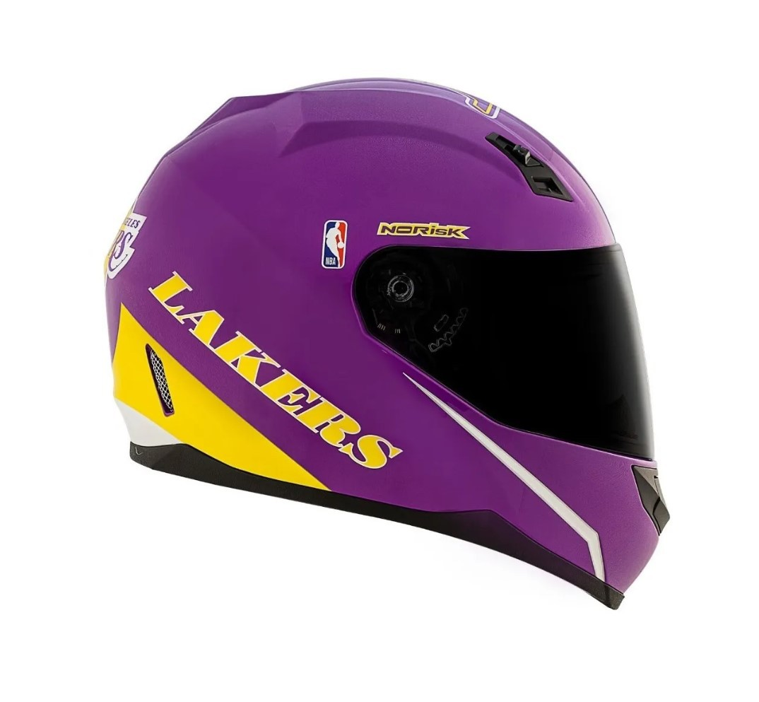 Capacete Norisk FF391 Los Angeles Lakers Roxo