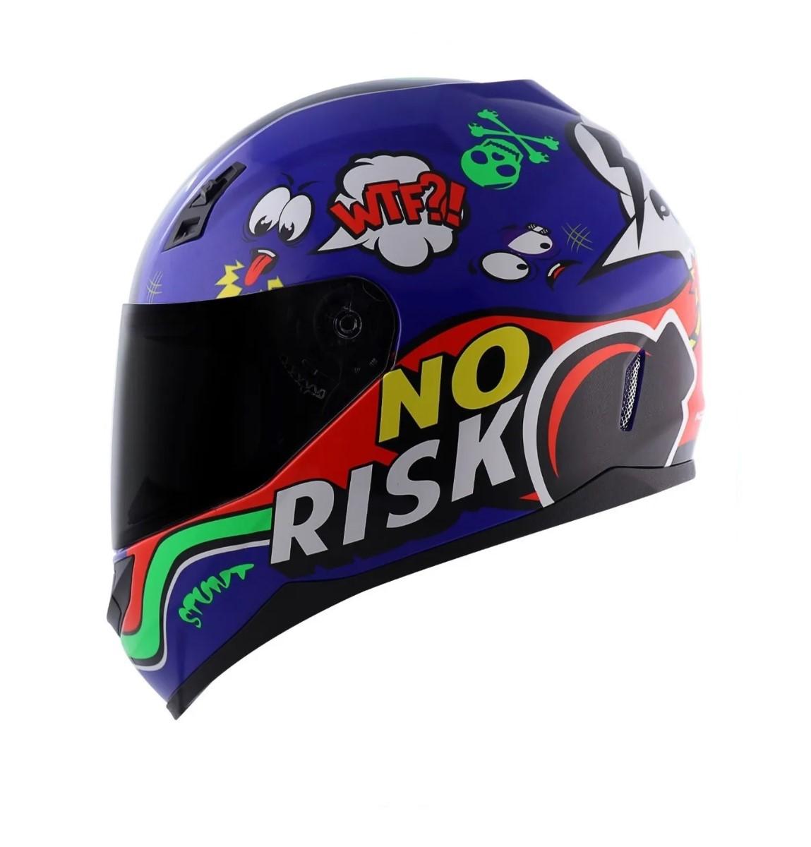 Capacete Norisk FF391 Panic Azul Vermelho
