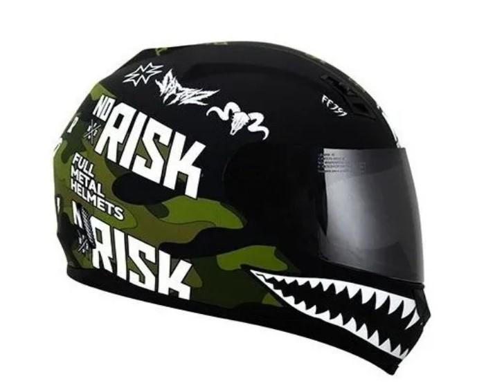 Capacete Norisk FF391 Ride Hard Preto Verde Camo