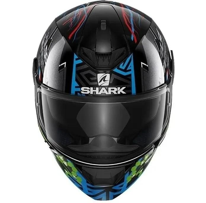 Capacete Shark D-Skwal 2 Noxxys Preto Azul Verde kbg