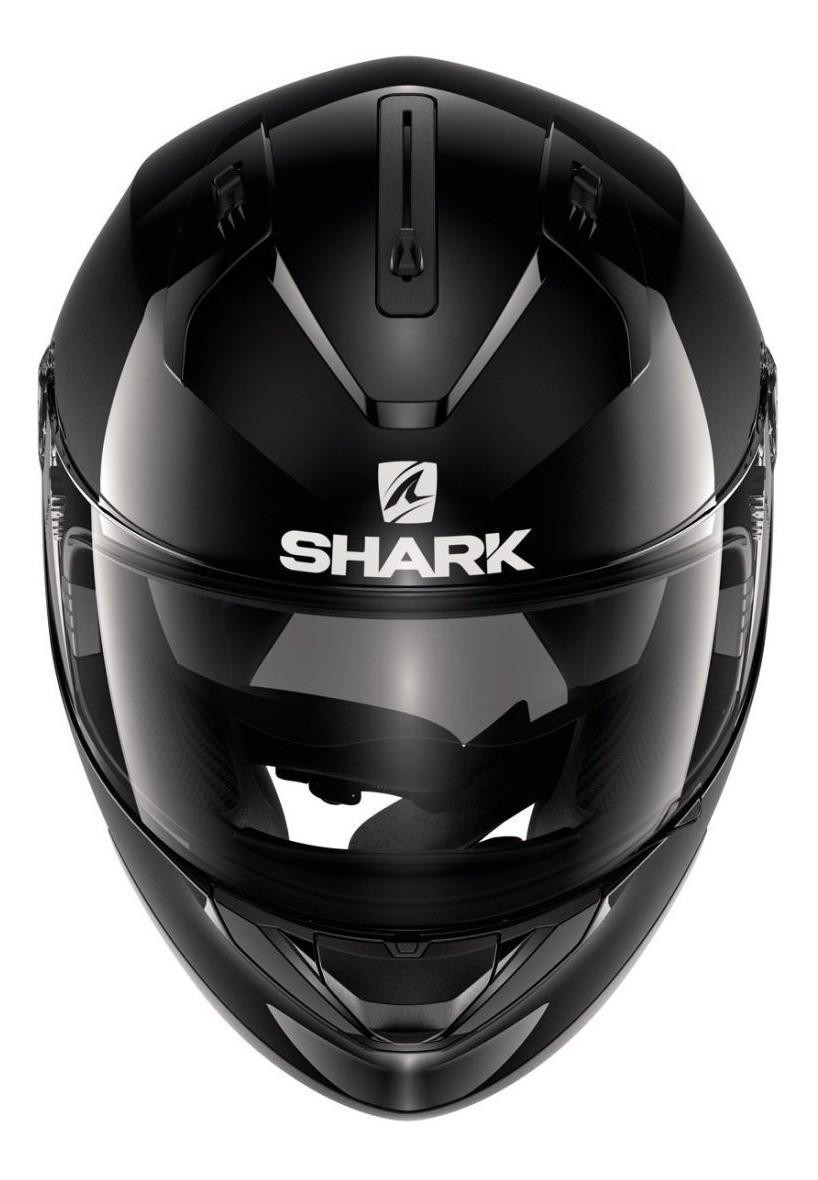 Capacete Shark Ridill Blank Preto Brilho