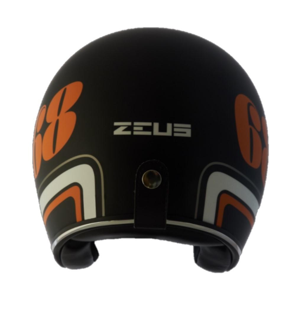 Capacete Zeus 380h V2 Preto Fosco Laranja