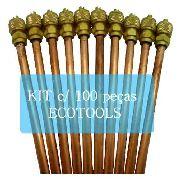 Kit 100 Válvulas Scharader Ecotools 1/4 0,7mm