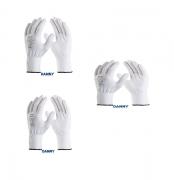 KIT (3) LUVA POLIFLEX de segurança tricotada em nylon - DANNY DA-1100 BRANCO - TAM G