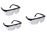KIT (3) Óculos segurança FENIX DANNY policarbonato óptico, armação nylon