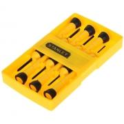 Kit 6 Chaves Precisão Eletrônicos Estojo Stanley 66052