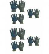 KIT (6) Luvas Tricotada Nylon - Poliflex Pigmentada Da-11300 G Danny
