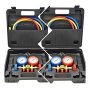 Kit com 02 Manifolds 01 R410 e 01 R22 Suryha com Maleta