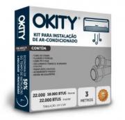 Kit Instalação Ar Condicionado 18/22.000 Btus 3 mt - S/ Suporte