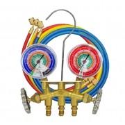 MANIFOLD R410a/R404a/R507a/R22 C/ MANG.150CM COM ADAPTADOR (BAR/PSI/C) 36661-E