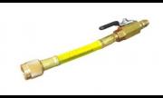 Mini Mangueira Amarela15cm C/ Registro Bola Conexao 1/4 Sae
