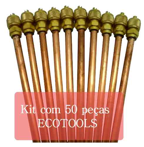 Kit Com 50 Válvulas De Serviços Ecotools schrader 1/4 0,7mm