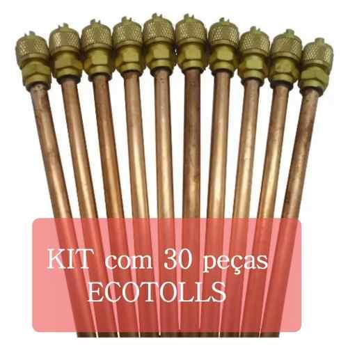 Kit Com 30 Válvulas Scharader Ecotools 1/4 0,7 mm