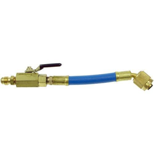 Mini Mangueira Azul 15cm C/ Registro Bola Conexao 1/4 Sae Mc